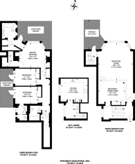 Large floorplan for Cadogan Square, Chelsea, SW1X