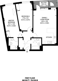 Large floorplan for Purley Way, Purley Way, CR0