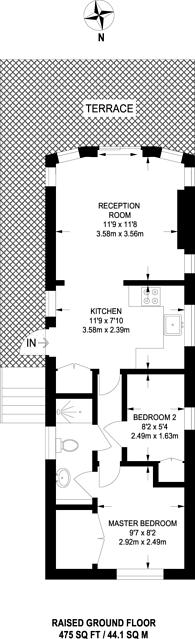 Large floorplan for Edgeley Park, Farley Green, GU5