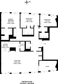 Large floorplan for Centre Point, Covent Garden, WC1A