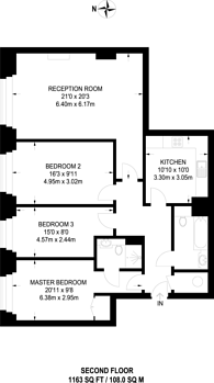 Large floorplan for Tudor Street, Blackfriars, EC4Y