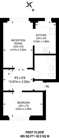 Large floorplan for Eversholt Street, Mornington Crescent, NW1