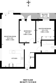 Large floorplan for Inigo Jones House, Tower Hamlets, E14