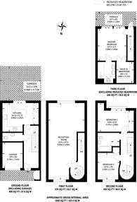 Large floorplan for Pallister Terrace, Roehampton, SW15