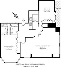 Large floorplan for Maida Vale, Maida Vale, W9