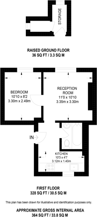 Large floorplan for Bell Street, Lisson Grove, NW1