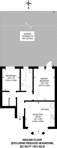 Large floorplan for Dowanhill Road, Catford, SE6