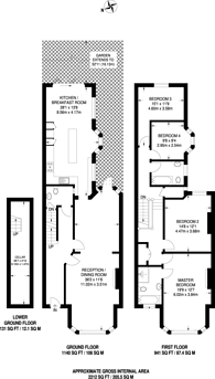 Large floorplan for Heber Road, Willesden Green, NW2