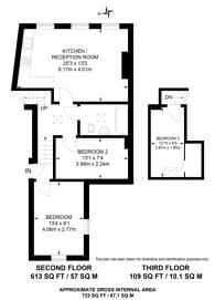 Large floorplan for Rectory Road, Hackney, N16