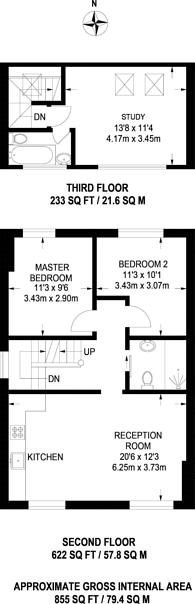 Large floorplan for Ellesmere Road, Chiswick, W4