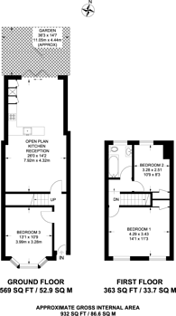 Large floorplan for Worcester Road, Walthamstow, E17