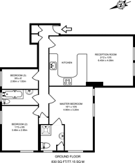 Large floorplan for Chandos Road, Willesden Green, NW2