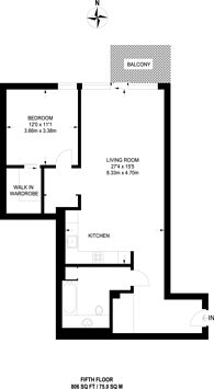 Large floorplan for Chelsea Island, Chelsea Harbour, SW10