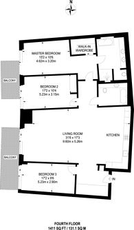 Large floorplan for Chelsea Island, Chelsea Harbour, SW10