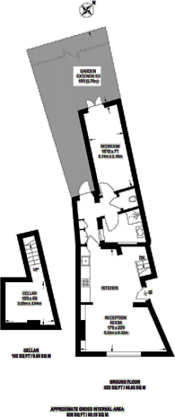Large floorplan for Crystal Palace Road, East Dulwich, SE22