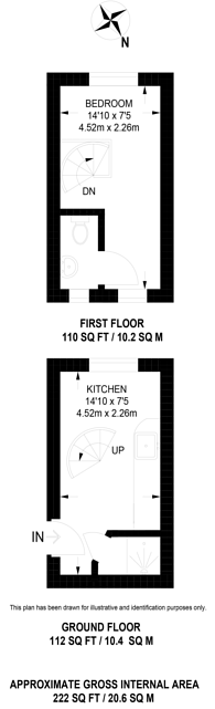 Large floorplan for Parkside Crescent, Berrylands, KT5