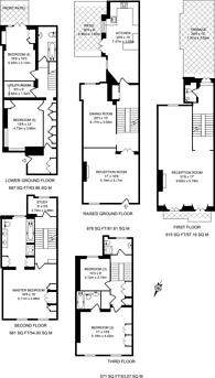 Large floorplan for Hereford Square, South Kensington, SW7
