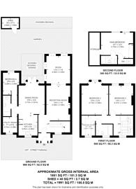 Large floorplan for Derwent Crescent, North Finchley, N20