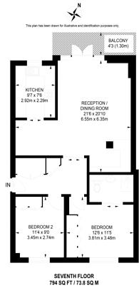 Large floorplan for Nine Elms Lane, Vauxhall, SW8