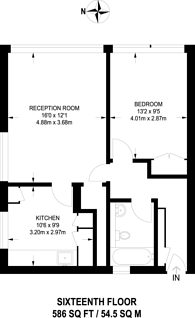 Large floorplan for Hornsey Road, Holloway, N7