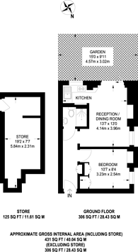Large floorplan for Buer Road, Parsons Green, SW6