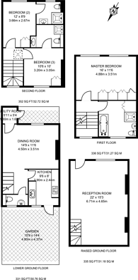 Large floorplan for Portobello Road, Notting Hill, W11