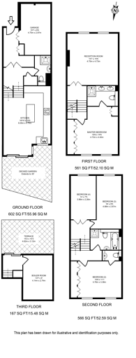 Large floorplan for Harrow Fields Gardens, Harrow on the Hill, HA1