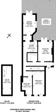 Large floorplan for Plashet Road, Upton Park, E13