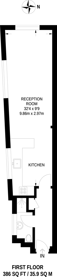 Large floorplan for Church Road, Teddington, TW11