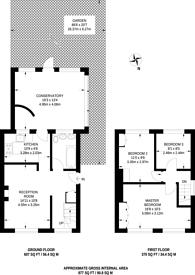 Large floorplan for Heathstan Road, Shepherd's Bush, W12
