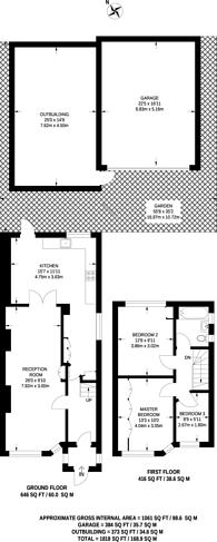 Large floorplan for Twyford Road, Harrow, HA2