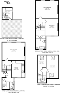 Large floorplan for College Cross, Islington, N1