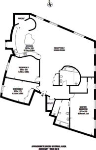 Large floorplan for Greenwich High Road, Greenwich, SE10