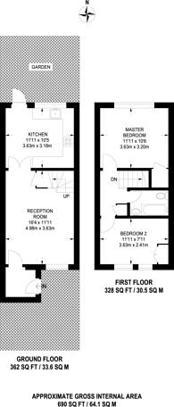 Large floorplan for Clark Way, Heston, TW5