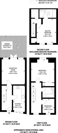 Large floorplan for Chester Crescent, Dalston, E8