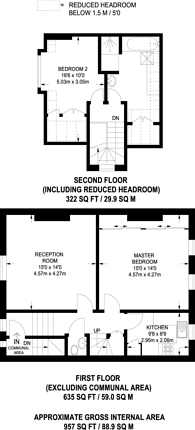 Large floorplan for Thorney Hedge Road, Chiswick, W4