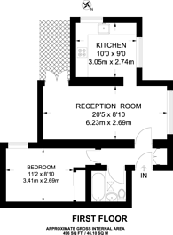 Large floorplan for Frogmore, Wandsworth, SW18