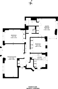 Large floorplan for Bentinck Close, St John's Wood, NW8