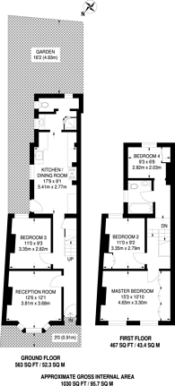 Large floorplan for Louise Road, Stratford, E15