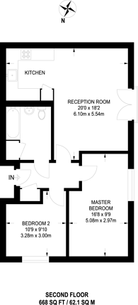 Large floorplan for Tarling Street, Shadwell, E1