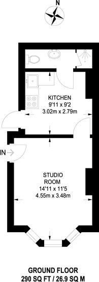Large floorplan for Grosvenor Road, Forest Gate, E7