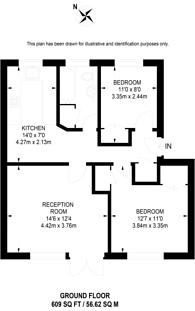 Large floorplan for West Road, Guildford, GU1