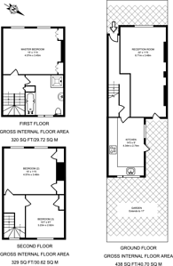 Large floorplan for Elm Park, Brixton Hill, SW2