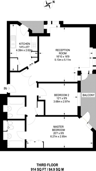 Large floorplan for Cuba Street, Canary Wharf, E14
