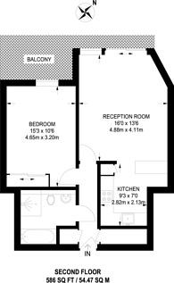 Large floorplan for Holland Gardens, Brentford, TW8