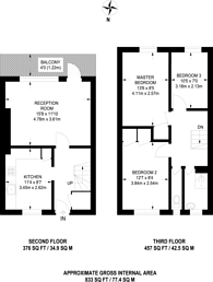 Large floorplan for Twyford Street, Islington, N1