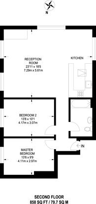 Large floorplan for Barrington Road, Brixton, SW9