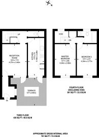 Large floorplan for Clarewood Walk, Brixton, SW9