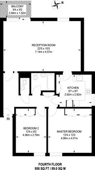 Large floorplan for Vicarage Crescent, Battersea Square, SW11