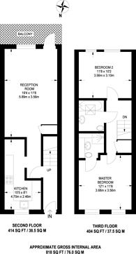 Large floorplan for East India Dock Road, Canary Wharf, E14